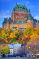 Le Chateau In Autumn, Quebec City, Canada