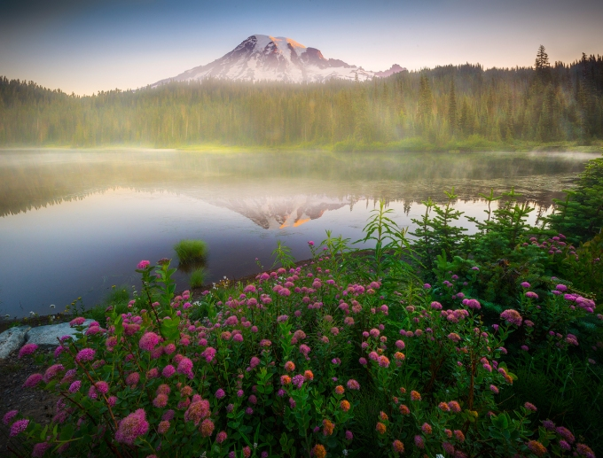 Images from Mount Rainier in the Pacific Northwest Of Washington State